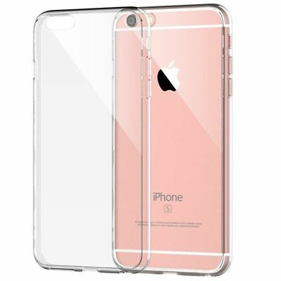 Transparent Clear Silicone Slim Gel Case and Screen Protector for iPhone 6s Plus