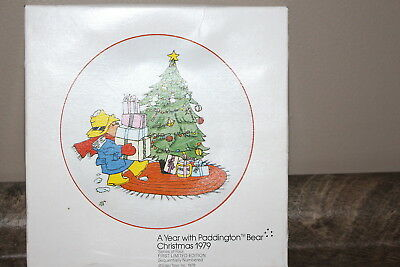 Schmid Vintage 1979 Paddington Bear First Limited Edition Decorator Plate in box