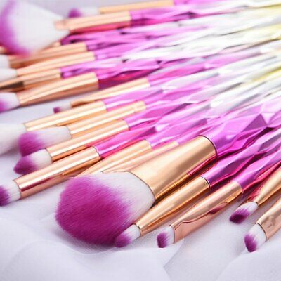 20PCS Unicorn Diamond Makeup Brushes Set Foundation Eyeshadow Lip Tools Powder U