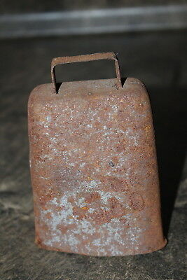 Goat Bell or Cow Bell Rusty Decorative Bell with Metal Clanger Rustic Decor