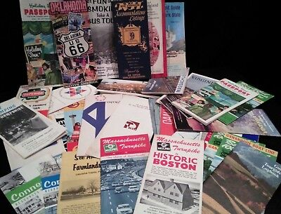 Lot of 35 Maps Travel Pamphlets Etc.