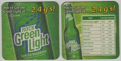 Latrobe Rolling Rock Green Light Beer Coasters - Sleeve of 80 Bar Pack