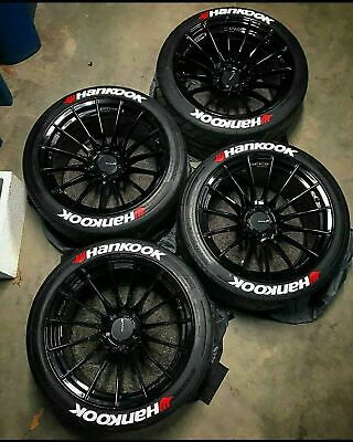 Permanent Tire Lettering stickers Hankook 1,25 ' 15'16'17'18'19'20 (9 DECAL KİT)