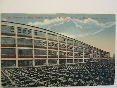 """FORD MOTOR COMPANY'S PLANT -- """"1000 Chassis, a day's output"""", Detroit, MI. #2"""