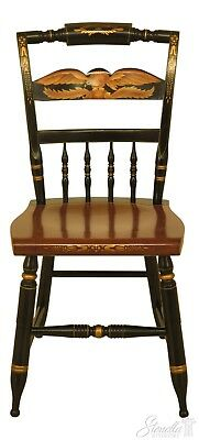 F30390EC: HITCHCOCK Eagle Stenciled Maple Side Chair