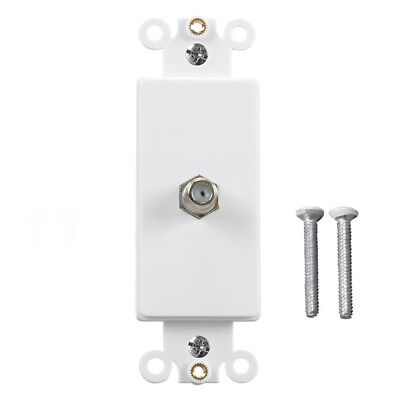 2 Port Gold Plated F81 Coax Cable TV Antenna Coupler Decora Wall Plate Insert