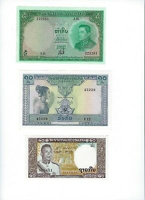 Laos Old Kingdom Issues From Estate See Scans     Nice Unc