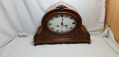 Vintage Georgian Baroque Style Hat 8 Day Westminster Chiming Table Clock