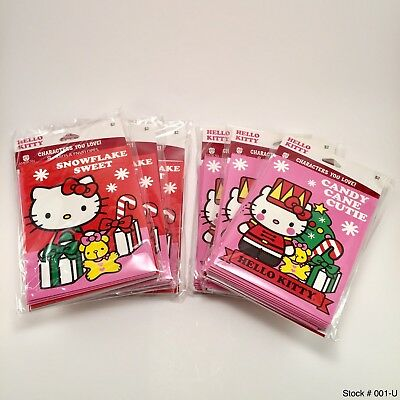 (2 Packs Of 8 Cards Each Pack) Hello Kitty Christmas Cards New *free Shipping*