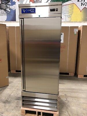 NEW CoolFront One 1 Door Upright Commercial Stainless Steel Refrigerator 23 Cu.