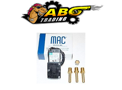 MAC 4 Port 5.4W Electronic Boost Control Solenoid Valve + Barbed Brass Fittings