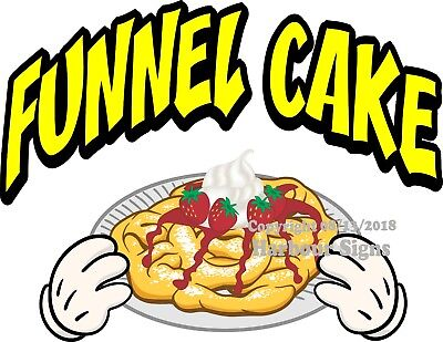 Funnel Cake DECAL (Choose Your Size and Color)  Concession Food Truck Sticker M