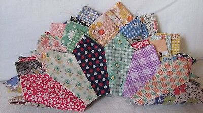 """8 DRESDEN PLATE QUILT BLOCKS 10""""across c1930-45 PILLOWS CRAFTS DOLL pointed edge"""