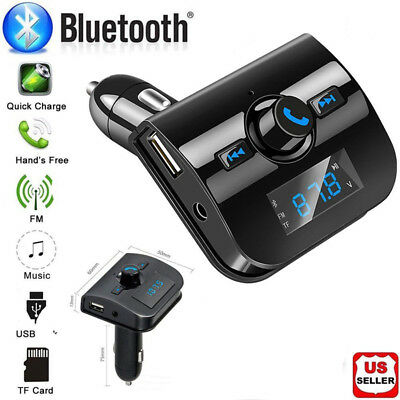 Bluetooth Wireless FM Transmitter Radio Adapter Car Kit MP3 Player 2 USB Charger
