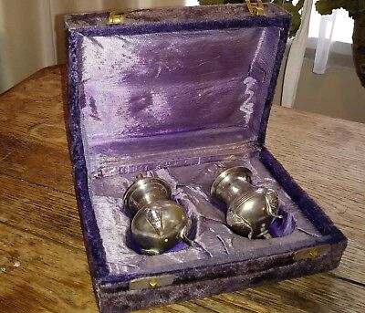 Vintage Silver Plated Salt & Pepper Shakers