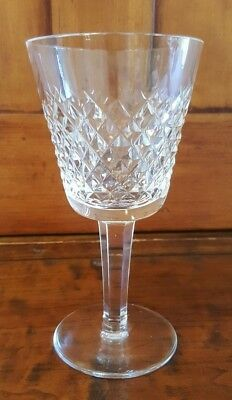 "VINTAGE Waterford Crystal Alana (1952-) 5 7/8"" Claret Wine Glass EUC SIGNED"