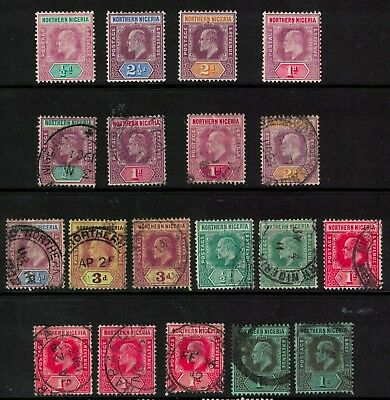 Nigeria stamps 1902> edward vii issues better noted - to one shilling mint/used