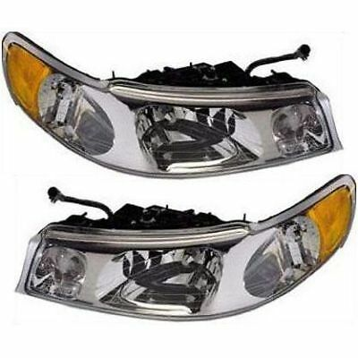 Lincoln Town Car 98-02 Headlights Headlamps Pair Set of 2 Left Lh & Right Rh