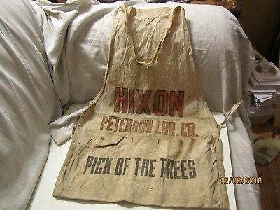 Vintage Nixon Peterson Lbr. Co Pick of the Trees Nail Apron 3 Pouch