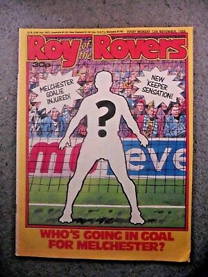Roy Of The Rovers Comic 12/11/1988  Vgc Vintage Rare