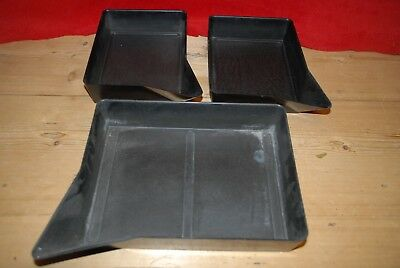 "4 x 6"" and 6 x 8"" vintage bakelite photographic DEVELOPING TRAYS x 3 Ilford"