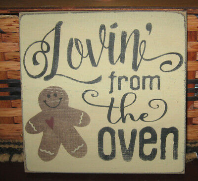 Primitive Country Lovin' From The Oven Gingerbread Sm Sq Sign
