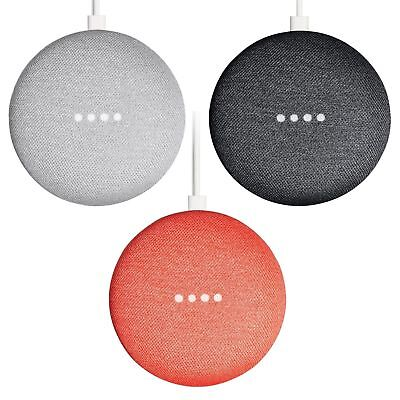 Sealed Google Home Mini w Google Assistant Chalk Charcoal Coral Fast shipping