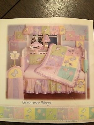 20 piece set Kidsline Gossamer Wings baby girl crib bedding with decor