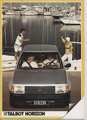 Talbot Horizon 1983 Catalogue Brochure