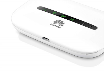 New HUAWEI E5330 3G Mifi Wifi Wireless Router Lan Hub Hotspot 2GB Locked White