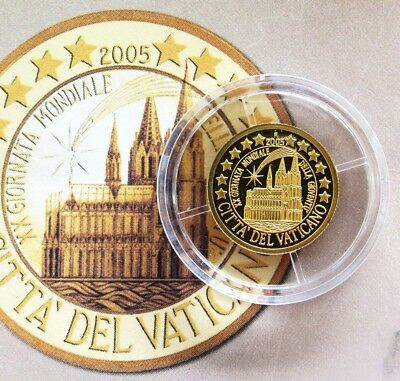 2005 Gold Northern Mariana Islands $5 Cathedral Vatican City Proof Coin
