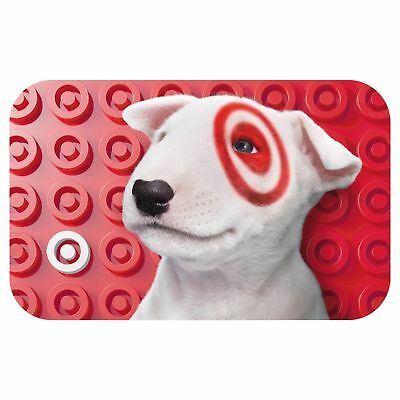 Brand New Unused $50 Target Puppy Dog Bullseye Gift Card Free Fast Shipping