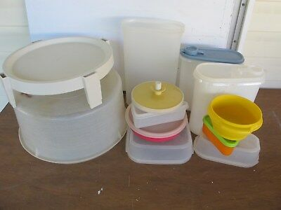 17 pc lot Tupperware used, mismatched