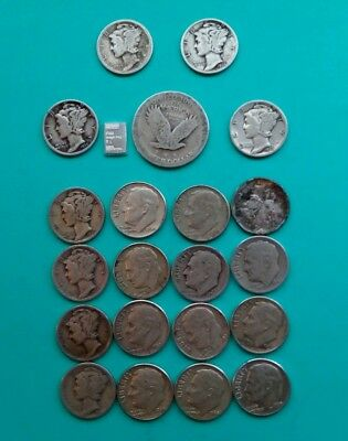 Old Dime Quarter 90% Silver $2.25 Face Value * Good Not Scrap! * Free Shipping