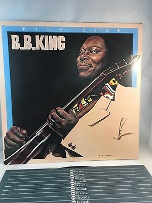 B B  KING KING SIZE (NM-) DEMO STAMP Original 1977 Vinyl LP