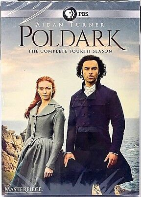 Poldark Complete Season 4 (DVD, 2017, 3-Disc Set) Four - NEW - Free Shipping!!
