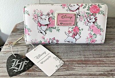 Loungefly - Disney ARISTOCATS ~ MARIE PINK FLORAL AOP Faux Leather Full Wallet
