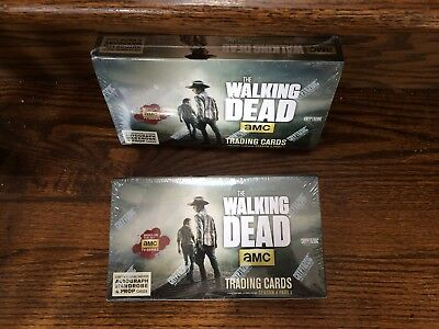 TWO Cryptozoic Walking Dead Season 4 Part 1 SEALED Trading Card HOBBY Boxes