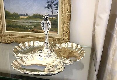 Antique Christofle Silver Plated Server Tray Centre Piece