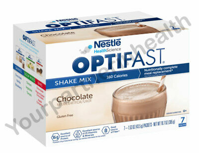 Optifast 800 Powder Shake | 3 Boxes | Chocolate | 21 Servings | Fresh & New