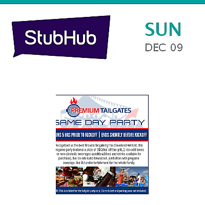 Premium Tailgates Game Day Party - Panthers vs. Browns Tailgate T... - Cleveland