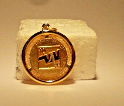 1970's WESTERN AIRLINES 10 Year Service Pendant w/diamond by Balfour