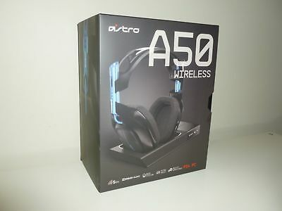Astro A50 PS4 Wireless Dolby Gaming Headset - Black PlayStation 4 PC w/base