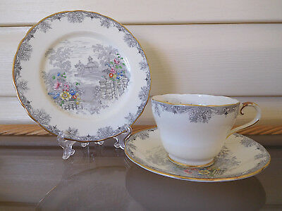 "Aynsley ""Grey Towers"" Trio B5090 /6 Made In England 1920-1930s Rare"