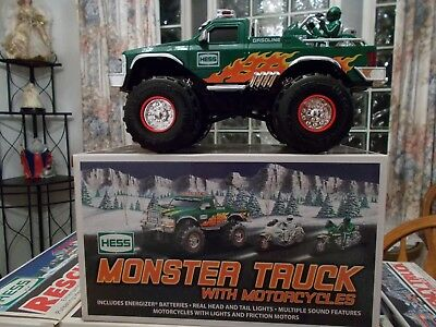 2007 HESS MONSTER TRUCK with 2 MOTORCYCLES   NIB