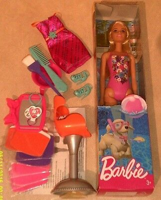 New Barbie Beach Doll & Colour Stylin Foils  Outfit Mint