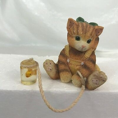 Calico Kittens Splash of Happiness 295566 Kitty Cat Pulling A Fish Bowl Dangle