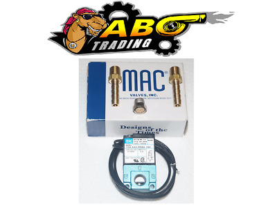 MAC 3 Port 5.4W Electronic Boost Control Solenoid Valve + barbed brass fittings