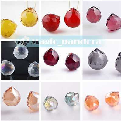 1pcs 22x20mm Findings Crystal Glass Loose Spacer Beads Chandelier Hanging Drop
