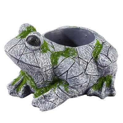 Resin Frog Planter Statue – Deck Garden Yard Décor – Vintage Decorative